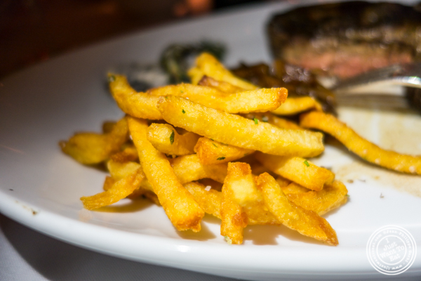 Seasoned French fries at Chimichurri Grill East, NYC, NY