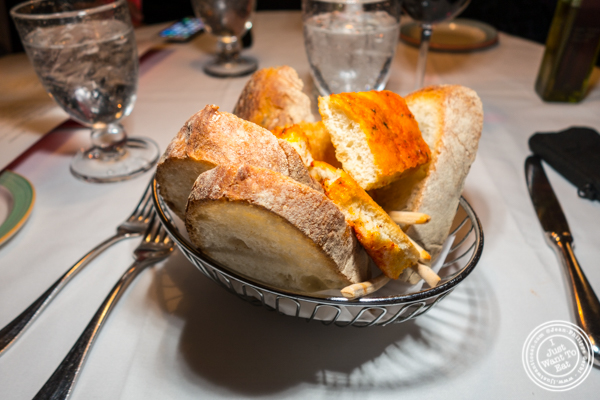 Bread basket at Lattanzi in NYC, NY