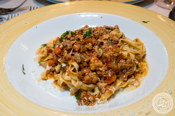 Fettuccine al ragu at Lattanzi in NYC, NY