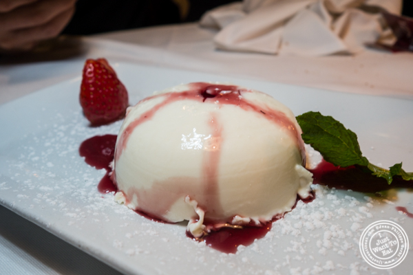 Panna cotta at Lattanzi in NYC, NY