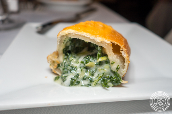 Manchego cheese empanada at Chimichurri Grill West in Hell's Kitchen