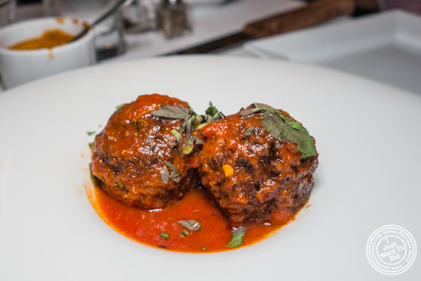 Meatballs at Chimichurri Grill West in Hell's Kitchen