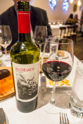 Malbec BenMarco 2014 at Chimichurri Grill West in Hell's Kitchen