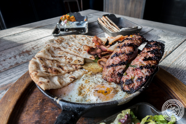 Country cast iron breakfast at MP Taverna in Astoria, Queens