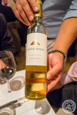 Santa Julia Tardio- 2012 at Chimichurri Grill West in Hell's Kitchen