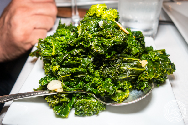 Sautéed kale at Chimichurri Grill West in Hell's Kitchen