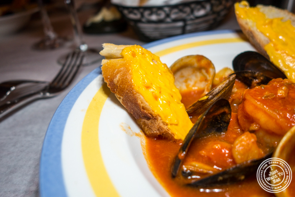 Rouille for bouillabaisse at Paname, French restaurant, in NYC, NY