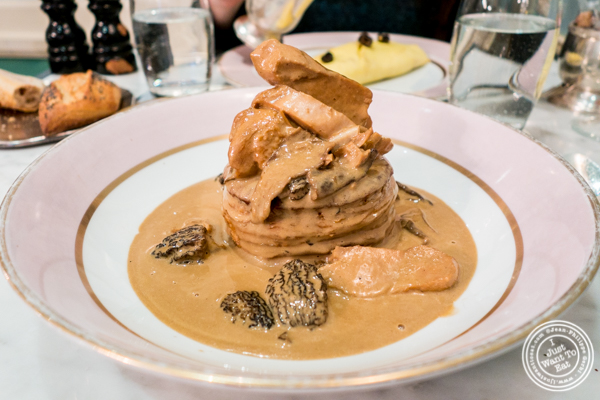 Chicken and mushroom vol au vent at Ladurée in Soho, NYC, NY