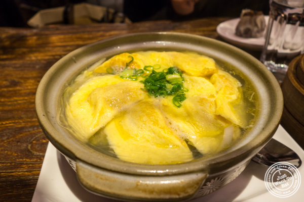 Clay pot dumplings at Hao Noodle and Tea by Madam Zhu's Kitchen in NYC, NY