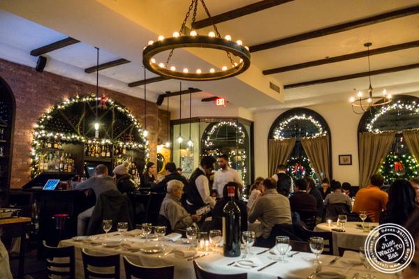 Dining room L'Angolo in TriBeCa, NYC, NY