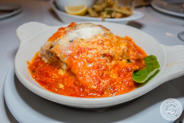 Melanzane al forno at L'Angolo in TriBeCa, NYC, NY