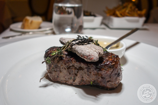Filet mignon at Chimichurri Grill East in NYC, NY