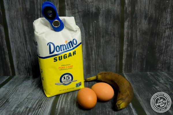 Ingredients for banana soufflés