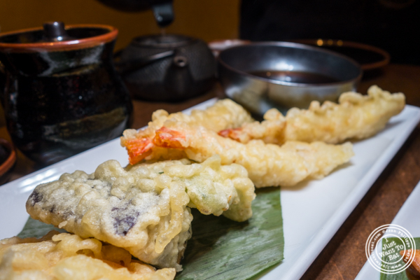 Shrimp and vegetable tempura at Haru Sushi in Times Square, NYC, NY