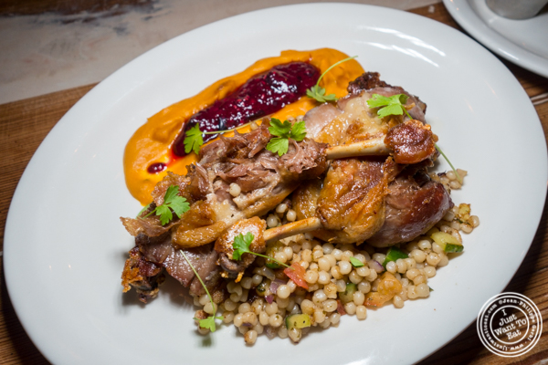 Duck confit at Hudson Hall in Jersey City, NJ