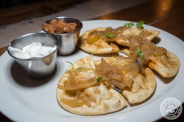 Pierogis at Hudson Hall in Jersey City, NJ