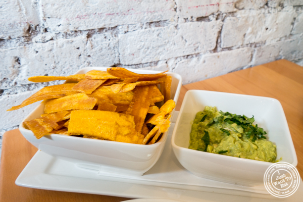 Guacamole and plantains at Empanada Mama in Hell's Kitchen