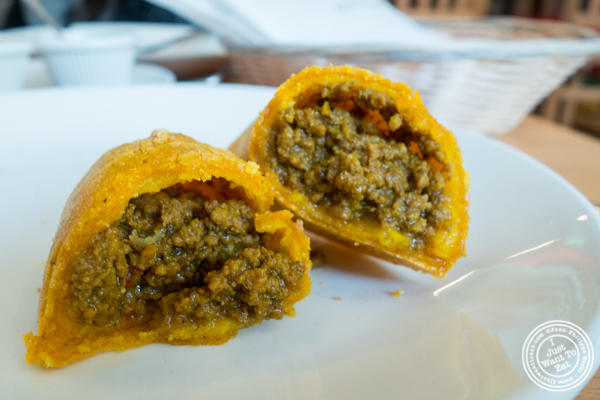 Beef empanada at Empanada Mama in Hell's Kitchen