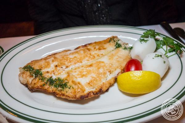 Sole meuniere at Chez Napoleon in NYC, NY