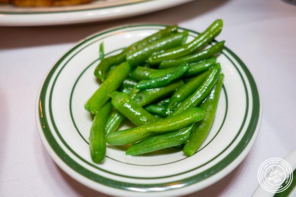 Haricots verts at Chez Napoleon in NYC, NY