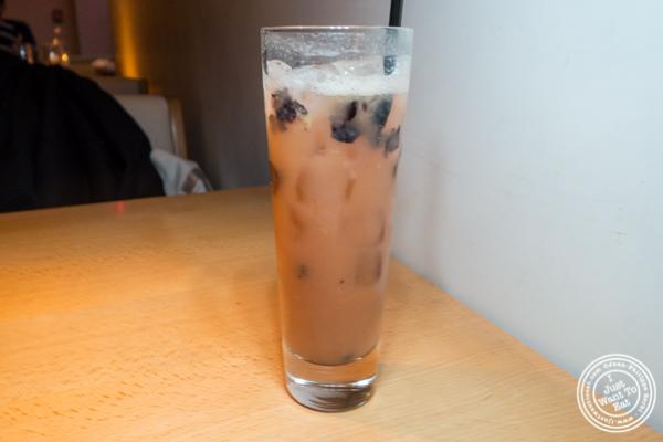 Blueberry ice tea at Morimoto in NYC, NY