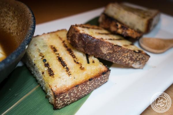 Sourdough bread at Morimoto in NYC, NY