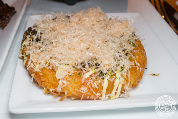 Okonomiyaki or Japanese pancake at Morimoto in NYC, NY