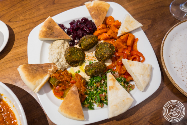 Combo platter at Mémé Mediterranean in Hell's Kitchen