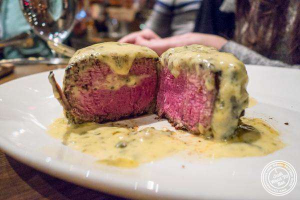 Filet mignon at Del Frisco's Grille at the Rockefeller Center