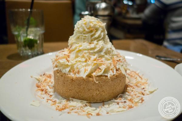 Coconut cream pie at Del Frisco's Grille at the Rockefeller Center