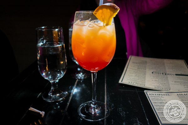 Sole di Roma cocktail at Bocca di Bacco in Hell's Kitchen