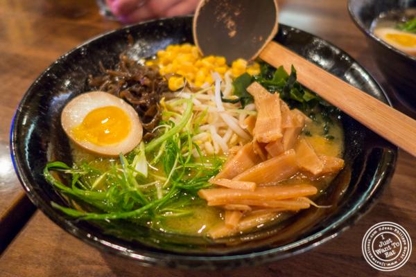 Yasai ramen at Ramen-Ya Samurai Edition in the West Village