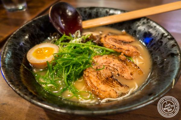 Shoyu ramen at Ramen-Ya Samurai Edition in the West Village