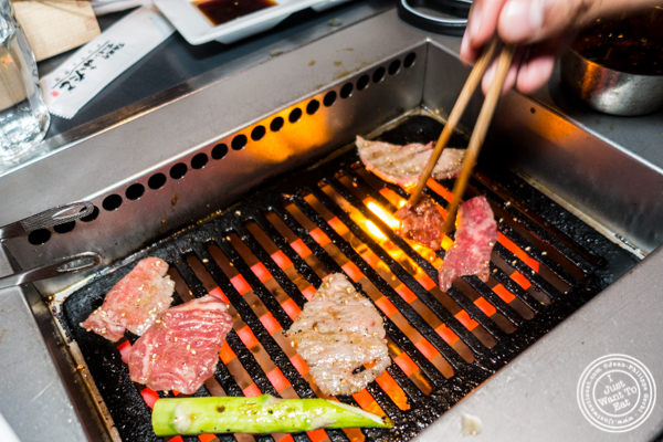 Grilling at Yakiniku Futago in NYC, NY