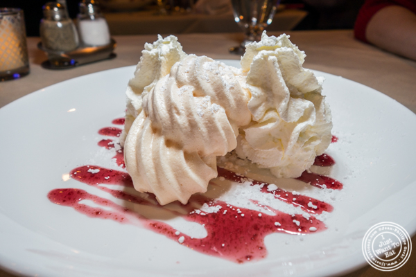 Meringue glacée at Mont Blanc 52 in NYC, NY