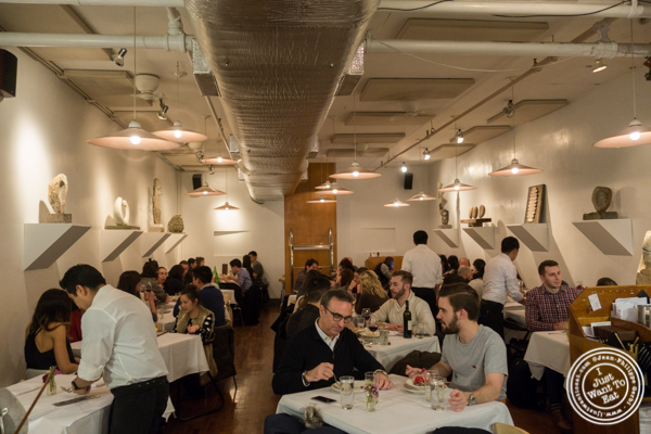 Dining room at Basta Pasta in Chelsea, NYC