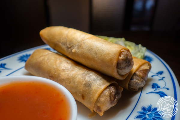 Veggie spring rolls at Qi Bangkok Eatery in Hell's Kitchen