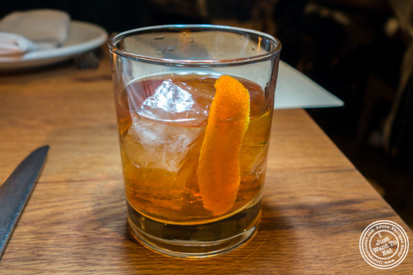 Maple old fashioned at The Little Beet Table in NYC, NY