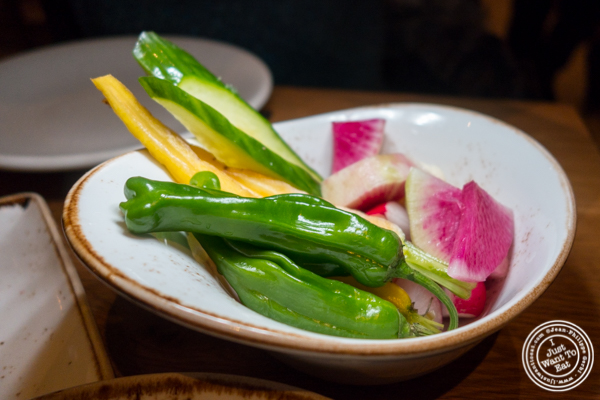 Crudités at The Little Beet Table in NYC, NY
