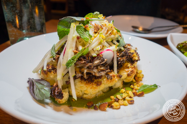 Cauliflower steak at The Little Beet Table in NYC, NY