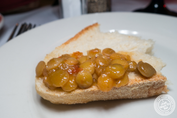 Bread and lentils at Da Marino in Times Square