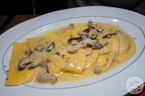 Mushroom ravioli at Boucherie Park Avenue South