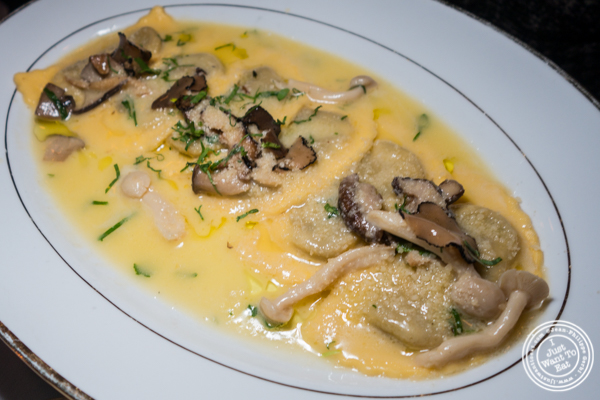 Mushroom ravioli at Boucherie in the West Village