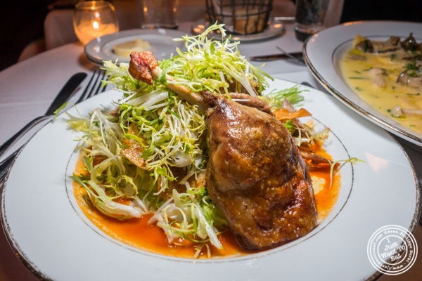 Duck confit at Boucherie in the West Village