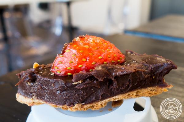 Chocolate tart at Choc-O-Pain, Uptown Hoboken, NJ