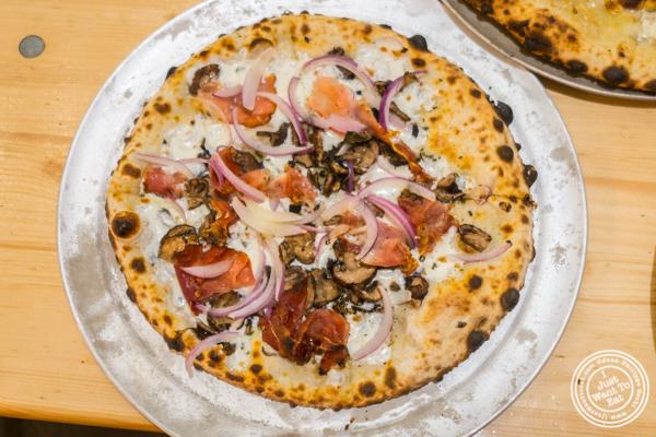The Speckenwolf pizza at Roberta's Pizza at Urbanspace Vanderbilt