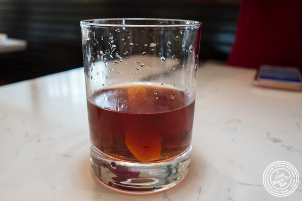 Vieux Carré cocktail at Cargot Brasserie in Princeton, NJ