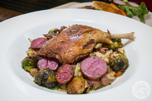 Duck confit at Cargot Brasserie in Princeton, NJ