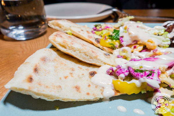 House made flatbread at Jams, Midtown West, NYC, NY