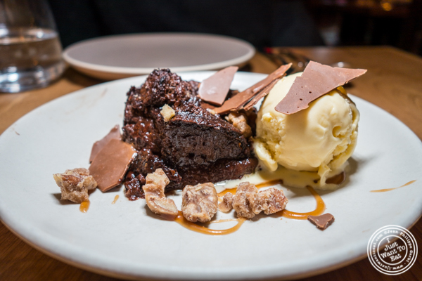 Chocolate bread pudding at Jams, Midtown West, NYC, NY